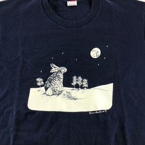 Karen Howell Shirts - Vintage Karen Howell Rabbits In Moonlight T-Shirt